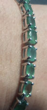 13Ct Emerald Tennis Bracelet Genuine Natural Colombian Emerald Bracelet 61.85tcw