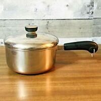 Revere Ware 1801 Copper Bottom Vintage 2 Qt. Pot w/ Domed Lid