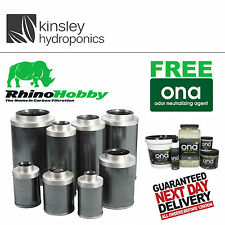 "Rhino Hobby Filter 6"" 150x300  Carbon 600m3/Hr OdourControl Kinsley Hydroponics"