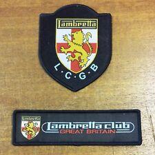 Lambretta Club Great Britain - LCGB Logo & LCGBLion and Shield Cloth Patches