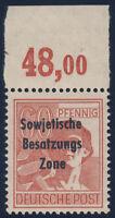 SBZ, MiNr. 195 a P OR ndgz, tadellos postfrisch, Mi. 250,-