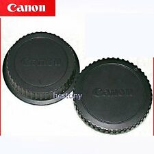 Genuine CANON EOS Camera Body Cap Rear Lens Cover Set EF~EOS Series Film~DIGITAL