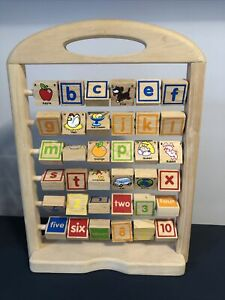 Wooden Alphabet And Number Abacus