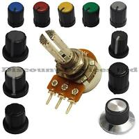5K ohm Dual Stereo Log Logarithmic Lin Linear Pot Potentiometer And Knob