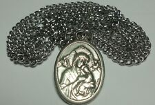 """Mary, Our Lady of Perpetual Help Holy Medal on 24"""" Chain Beautiful Iconic Image"""