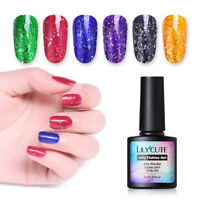LILYCUTE 8ml Jelly Flakes UV Nail Art Gel Polish Sequins Soak Off Gel Varnish