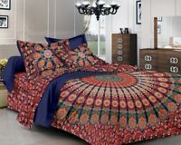 Indian Hippie Mandala Double King Size Bed Quilt Duvet Doona Cover Blanket Boho