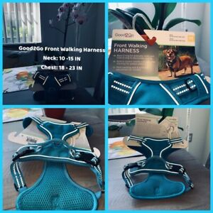 🐶Good2Go Front Walking Dog Harness Medium Neck 10-15IN Turquoise {Brand New}🐶