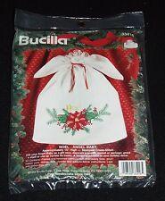 New In Package Bucilla Noel Angel Baby Stamped Cross Stitch Kit #33416