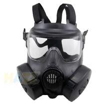 Airsoft M50 Masque À Gaz Full Face Double Filtre Fan CS Champ Dust Face Guard