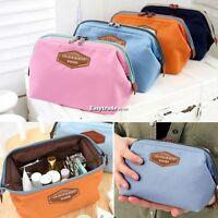 Women Travel Toiletry Make Up Cosmetic pouch bag Clutch Handbag Purses Case