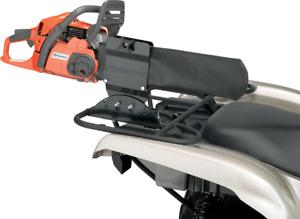 Moose Utility Black Textile Rear Steel Universal ATV Chainsaw Holder Bracket