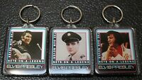 VINTAGE 1992 ELVIS PRESLEY KEYCHAINS - Set of 3 - Hamilton Gifts - THE KING -MIP
