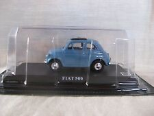 FIAT 500 Light Blue 1:43 Die cast model 20th CENTURY GREAT CARS COLLECTION