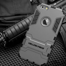Hybrid Iron Man Armor Impact Hard Rugged Case Stand Cover for iPhone 6+ Plus 5.5