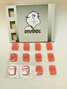 STUDEX PIERCING EARRINGS 14K GOLD PLATED 12 PAIR 4MM REGULAR STAR - R501Y
