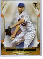 Jacob deGrom 2019 Topps Triple Threads 5x7 Gold #99 /10 Mets