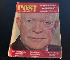 SATURDAY EVENING POST Vintage 8-1962~Eisenhower~Red China~American League