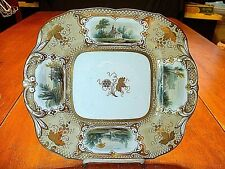 Early 19ThC Museum Quality Hand Painted Gilded Scenic Serving Tray #2