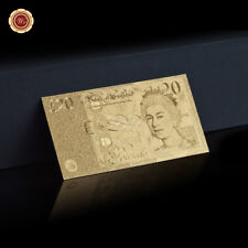 WR English 20 Pounds Banknotes Old Paper Money Collection Gifts For Dad 24K Gold