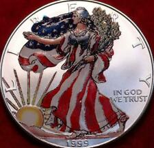Uncirculated Colorized 1999 American Eagle Silver Dollar