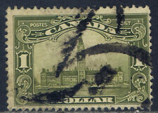 Canada #159(6) 1929 $1.00 olive green PARLIAMENT BUILDINGS Used CV$60.00