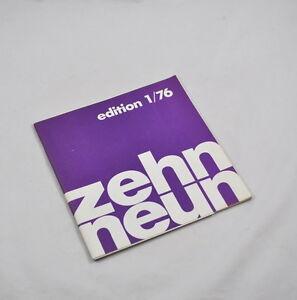 Edition 1/76 - zehn neun (10/9) Künstlerproduktionen