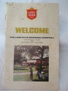 Vintage Lone Star Beer Brewery Tour Welcome Guide Early 1960's