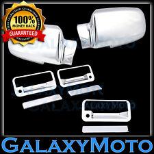 92-99 Chevy+GMC Suburban+95-99 Yukon Chrome Mirror+2 Door Handle+Tailgate Cover