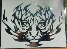 Tribal Tiger Chrome - Custom vinyl car sticker, decals, graphics, Tribal 1