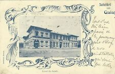 ROMANIA 1900 VINTAGE POSTCARD OF GALATI 'LICEUL DIN GALATI' ' TO BELGIUM