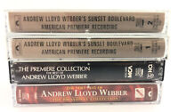Lot of  4 Andrew Lloyd Webber Premiere Collection Best Of Sunset Cassette Tapes