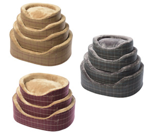 Pet Basket, Bed with Deluxe Soft Comfy Fabric Washable Dog Cat Cosy Dogs Premium