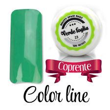 VERDE FOGLIA 23 GEL UV COLOR LINE RICOSTRUZIONE UNGHIE glass effect nail art