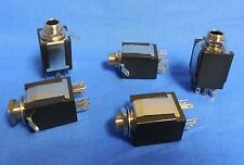 5 NEW ELECTRIC GUITAR STEREO ¼ INCH INPUT JACKS  from washburn