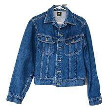Vintage 60s Lee Union Black Tag Denim Indigo Jacket Men's Size 42