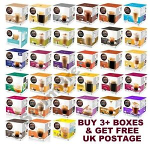 NESCAFE DOLCE GUSTO COFFEE PODS CAPSULES - BUY ANY 3  BOXES & GET FREE UK POST