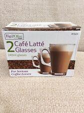 2 Coffee Latte Glasses - New in Box