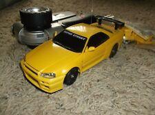 XMODS Gen 1 yellow AWD Skyline R34 stage 2 motor w metal heat sink and bearings