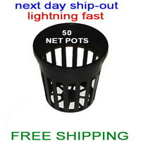 "2""  NET CUP POTS 50  FOR HYDROPONIC GROW BOX SYSTEM and CLONE FAST SHIP-OUT"