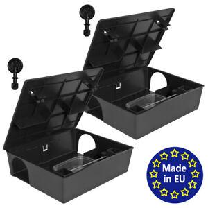 2x Köderstation Kompaktbox Köderbox Mäusebox Rattenbox Nagerköderstation Petigi