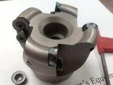 "2-1/2"" face mill R200, w. 4 Sandvik RCKT1204 Round inserts #506-R200-25"