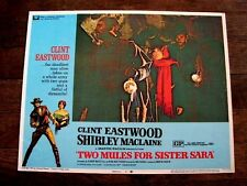 TWO MULES FOR SISTER SARA Ori WESTERN Lobby Card CLINT EASTWOOD SHIRLEY MACLAINE