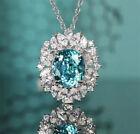 Women Elegant Jewelry Cubic Zirconia 925 Silver Necklace Pendants Wedding Gifts