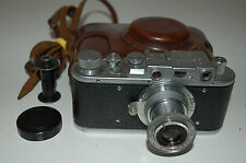 Zorki 1 Type C Vintage Soviet Rangefinder Camera With Case & Cap 1953. No.449416