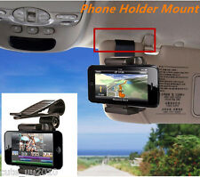 Universal Car Sun Visor Clip Mount Holder Stand Bracket For Mobile Phone GPS PDA