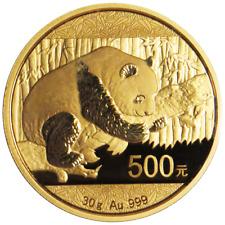 500 yuan china 2016 - 30 g Gold Panda 2016 soldada