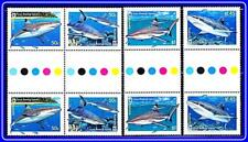 AUSTRALIA/COCOS IS. 2005 WWF-SHARKS gutter PAIRS MNH FISH/MARINE LIFE