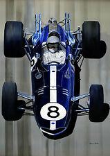 """Bruce McLaren Águila A3 12""""x17"""" impresión"""