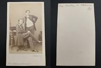 Alexandre & Alexis Alexandrovitch, fils du tsar Alexandre II Vintage albumen car